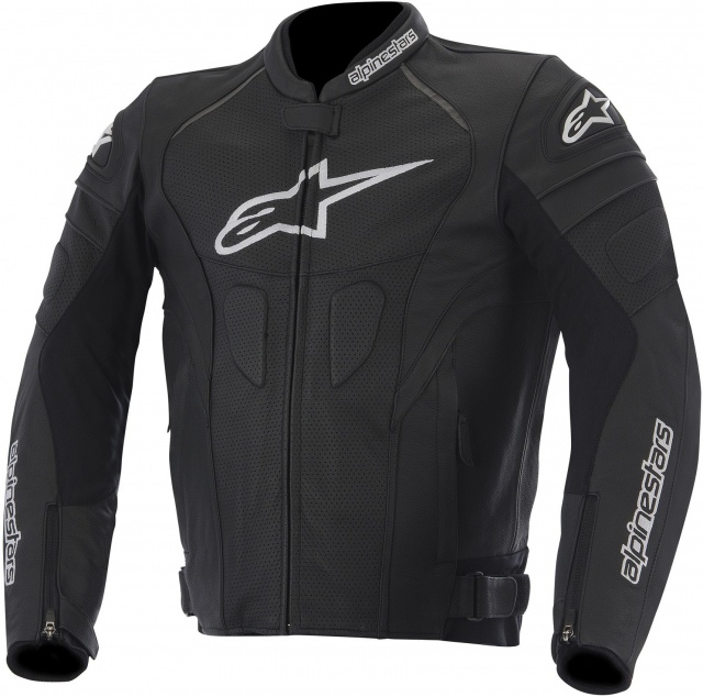 МОТОКУРТКА ALPINESTARS GP PLUS R КОЖА ЧЕРНЫЙ