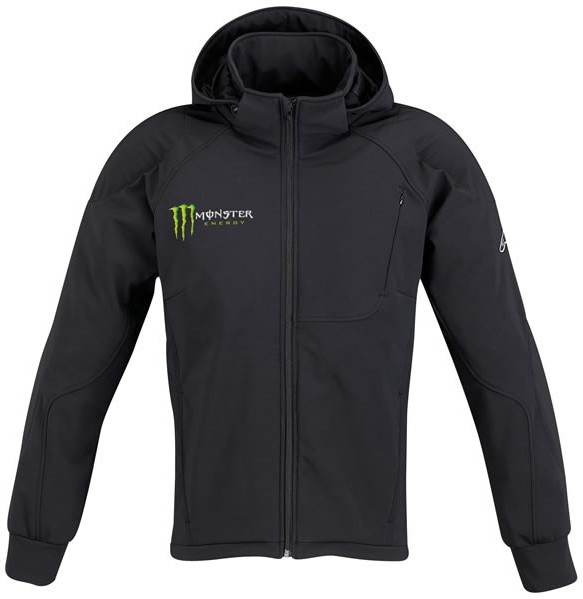 МОТОКУРТКА ALPINESTARS MONSTER CLOAK ЧЕРНЫЙ ЗЕЛНЫЙ