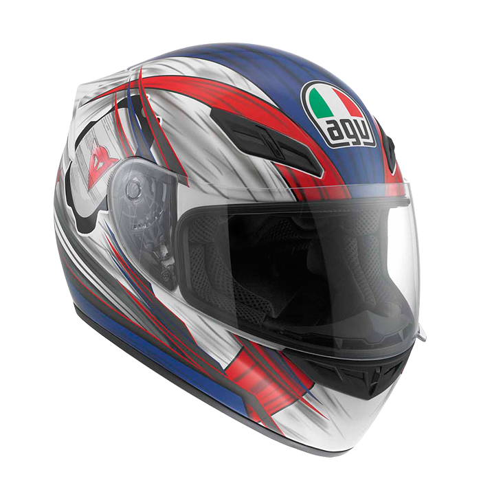AGV МОТОШЛЕМ K-4 EVO MULTI - HANG-ON WHITE/RED/BLUE