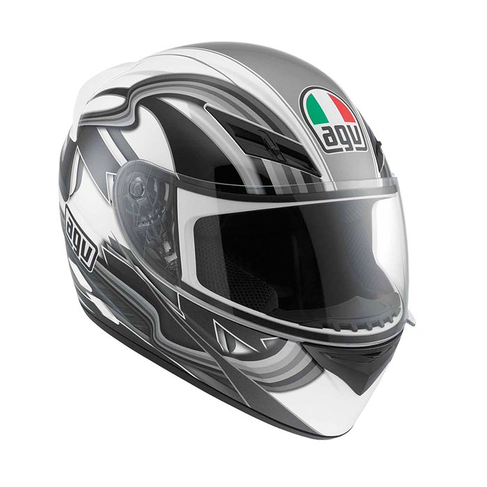МОТОШЛЕМ AGV K-3 CHICANE WHITE / GUN METAL