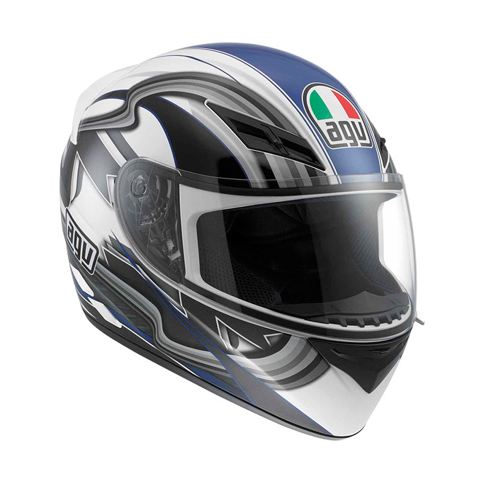 МОТОШЛЕМ AGV K-3 CHICANE WHITE / BLUE