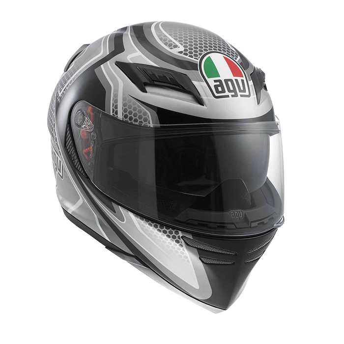 МОТОШЛЕМ AGV HORIZON MULTI RACER BLACK / CARBON / GUNMETAL