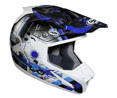 МОТОШЛЕМ LAZER SMX GEOMETRIX BLACK-BLUE NEW!
