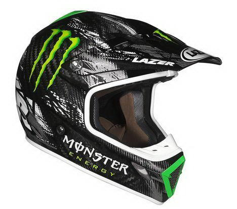 МОТОШЛЕМ LAZER MX7 EVO UL MONSTER BLACK-GREY-GREEN