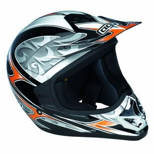 МОТОШЛЕМ AGV RC5 PRO FLASH BLACK-ORANGE-SILVER