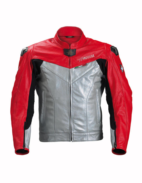 МОТОКУРТКА КОЖАНАЯ SPYKE MV AGUSTA RACING JKT SILVER RED