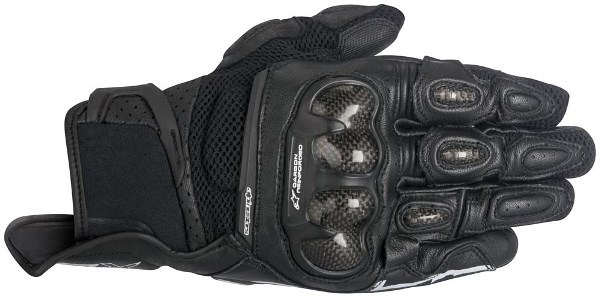 МОТОПЕРЧАТКИ ALPINESTARS SP-X AIR CARBON КОЖА ЧЕРНЫЙ